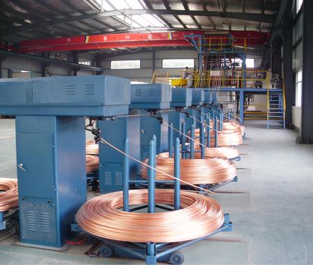 8000T Copper rod continuous upcast mcahine line