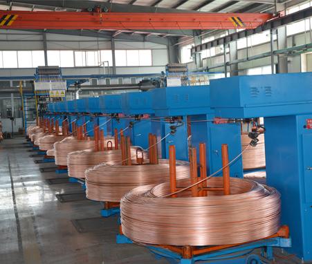 12000T Copper rod continuous casting mcahine line