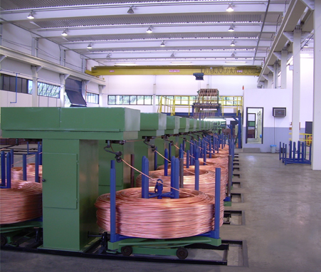 10000T copper rod production line equipment