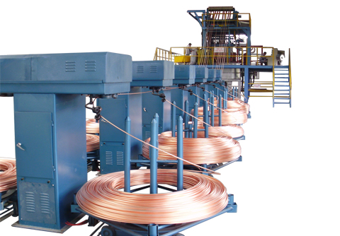 Oxygen-free copper rod upcast machine equipment