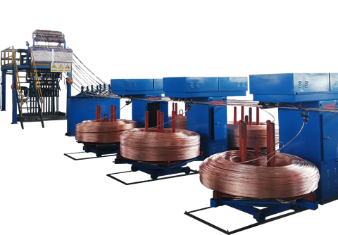 scrap copper rod upwards casting machine
