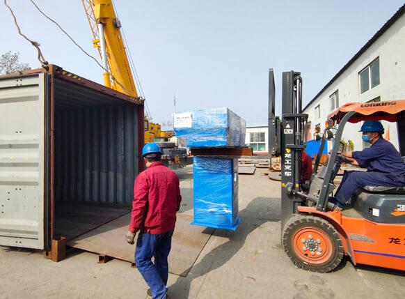 Shipment 12000t copper rod upcasting machine to bangkok, thailand