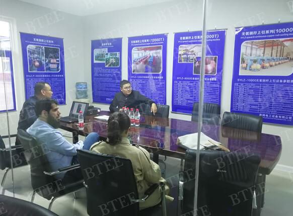 Pakistani customer paid a visit to benteng equipment